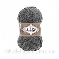 Пряжа 196 Alize Alpaca Royal, 100гр - 250м (серый)