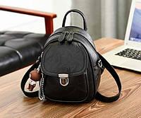 Женский мини рюкзак сумочка Черный