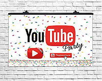 Плакат для праздника You Tube, 75х120 см.