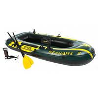 Двухместная надувная лодка Intex 68347 Seahawk 2 Set с веслами и насосом (236*114*41 см) 11/49.5
