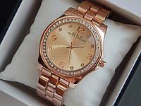 Мужские (Женские) кварцевые наручные часы Marc Jacobs на металлическом ремешке со стразами, фото 1