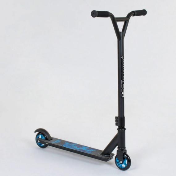 Самокат трюковый Best Scooter 81533 алюминиевый диск и дека. Колёса PU d=10 см