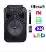 Акустическая колонка Temeisheng TMS-806 с радиомикрофоном Мощность 80W (USB/FM/Bluetooth)