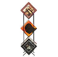 """Металлический стеллаж для хранения пластинок """"Ромбы 300"""" (3 уровня), фото 3"""