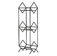 """Металлический стеллаж для хранения пластинок """"Ромбы 300"""" (3 уровня), фото 6"""