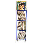 Металевий контейнер для зберігання пластинок 4-х поверховий (синій), фото 2