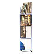 Металевий контейнер для зберігання пластинок 4-х поверховий (синій), фото 3