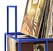 Металевий контейнер для зберігання пластинок 4-х поверховий (синій), фото 6