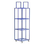 Металевий контейнер для зберігання пластинок 4-х поверховий (синій), фото 7