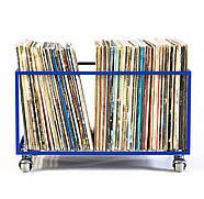 Контейнер для хранения виниловых пластинок (синий), фото 2