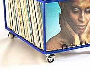 Контейнер для хранения виниловых пластинок (синий), фото 6