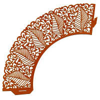 0363 Накладка бумажная декоративная ажурная для маффинов разных цветов (уп 20 шт)