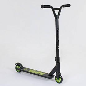 Самокат трюковый Best Scooter 73049 алюминиевый диск и дека. Колёса PU d=10 см