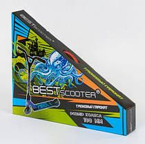 Самокат трюковый Best Scooter 73049 алюминиевый диск и дека. Колёса PU d=10 см, фото 3