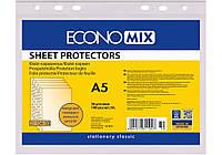 """Файл для документов А5 Economix, 30 мкм, фактура """"апельсин"""" (100 шт/уп) E31104-50"""