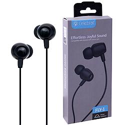 """Навушники """"Celebrat FLY-1"""" з мікрофоном круглий дріт, чорні"""