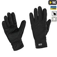 M-Tac перчатки флис Winter Tactical Windblock черные, фото 1