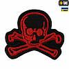 M-Tac нашивка на липучке Old Skull красный/черный