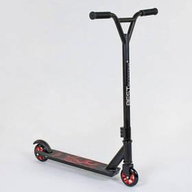 Самокат трюковый Best Scooter 49276 алюминиевый диск и дека. Колёса PU d=10 см