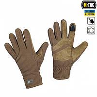 M-Tac перчатки флис Winter Tactical Windblock койот, фото 1