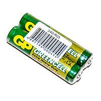 Батарейка солевая GP Greencell 24G-S2, AAA, 2 шт. в вакуумной упаковке, цена за упаковку
