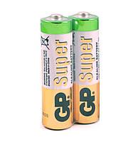 Батарейка GP Super 24AEBCHMSB-2S2, щелочная AAA, 2 шт. в вакуумной упаковке, цена за упаковку