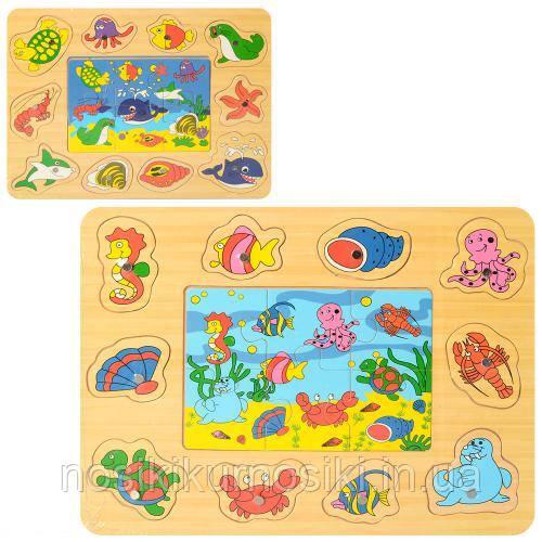 Дерев'яні іграшки пазли Риболовля MD 2349