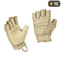 M-Tac перчатки тактические беспалые кожаные Assault Mk.1 хаки, фото 1