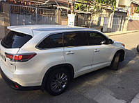 Ветровики Toyota Highlander III 2013-  дефлекторы окон