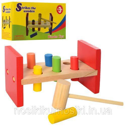 Дерев'яна іграшка стучалка гвоздики MD 2339