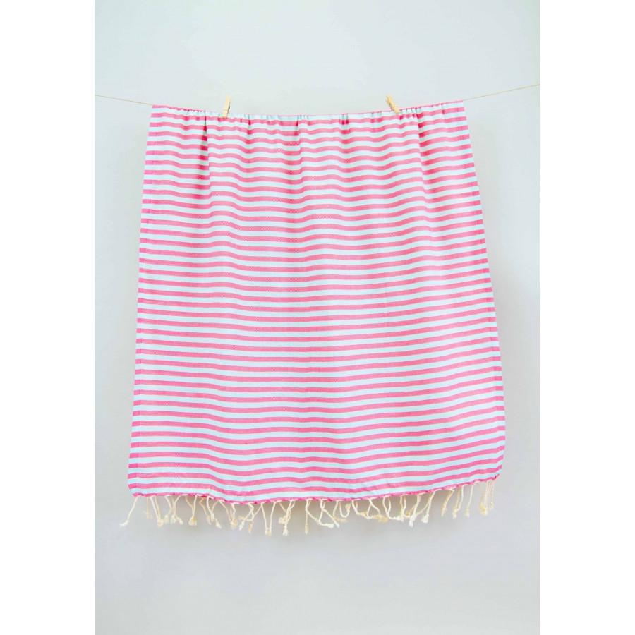 Полотенце Barine Pestemal - Herringbone 100*185 Flamingo-mint