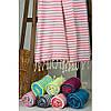 Полотенце Barine Pestemal - Herringbone 100*185 Flamingo-mint, фото 4