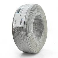 Телефонный кабель Merlion 4 жильный 28awg CCS 100метров в бухте серый