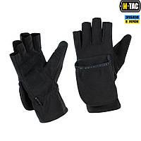M-Tac перчатки беспалые с клапаном Windblock 295 черные, фото 1