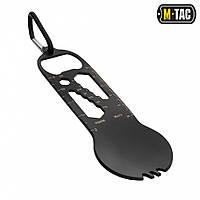 M-Tac мультитул/столовый прибор с карабином черный