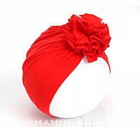 Тюрбан красная шапочка с цветочком