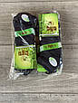 Чоловічі шкарпетки короткі бамбук BYT однотонні в сітку 40-45 12 шт в уп чорні білі світло сірі сині бежеві, фото 3