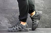 Мужские кроссовки Asics, замшевые демисезонные в цветах Серые, 44