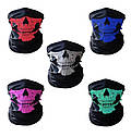 Бафф маска с рисунком черепа (Челюсть) Красная, Унисекс, фото 2