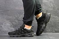 Мужские кроссовки Asics, замшевые демисезонные в цветах Черные, 43