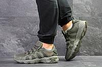 Мужские кроссовки Asics, замшевые демисезонные в цветах Темно зеленые, 44