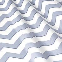 Декоративная ткань в серый зигзаг Турция 85712v21, фото 1