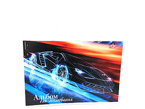 Альбом для малювання 12арк/А4/АВ-12 /на скобі Бріск 012255 (Машина с голубым отображением)