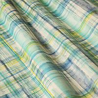 Декоративная ткань с размытыми желто-голубыми квадратами Испания 83371v2