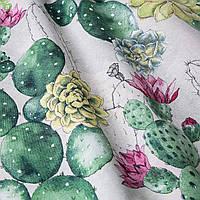 Декоративная ткань цветущий кактус Испания 280см 83366v1