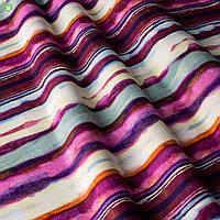Декоративная ткань яркая размытая полоска фиолетового и розового цвета Испания 83276v1, фото 1