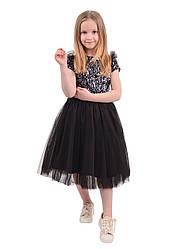 Нарядное платье с пайетками на девочку, в расцветках, р.98-134