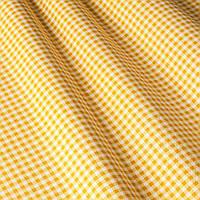 Декоративная ткань мелкая клетка желтая с тефлоном 83178v11, фото 1