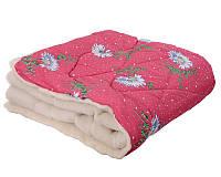 Одеяло овечья шерсть,открытый мех (двоспальное 180х210см)