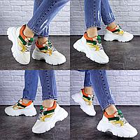 Женские бежевые кроссовки Jeter 1753 Эко-кожа  Размер 37 - 23 см по стельке, обувь женская